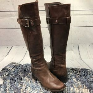 Cole Haan Brown Leather Riding Boots Size 6B